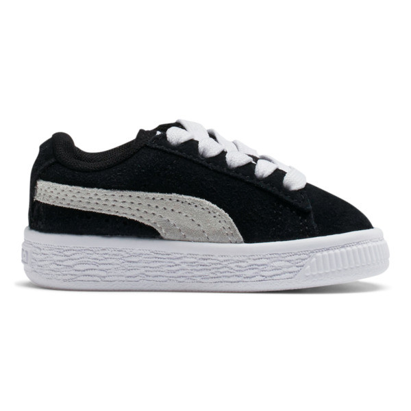 Puma Suede Toddler Shoes, black-white, large