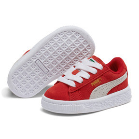 Thumbnail 2 of Puma Suede Toddler Shoes, high risk red-white, medium