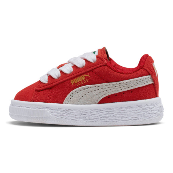 Puma Suede Toddler Shoes, high risk red-white, large
