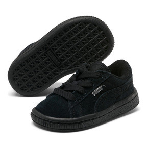 Thumbnail 5 of Puma Suede Infant Sneakers, black-puma silver, medium