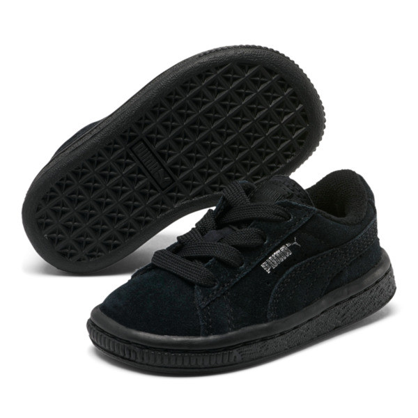 Puma Suede Infant Sneakers, black-puma silver, large