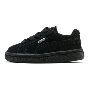 Thumbnail 1 of Puma Suede Infant Sneakers, black-puma silver, medium