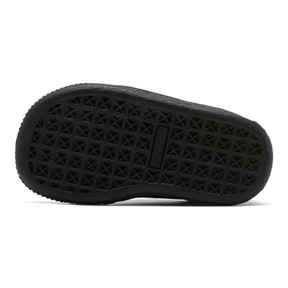 Thumbnail 2 of Puma Suede Infant Sneakers, black-puma silver, medium