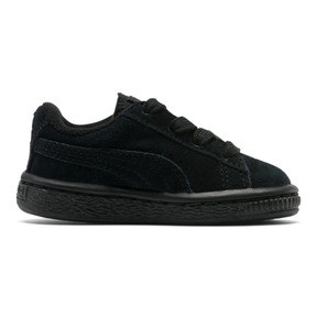 Thumbnail 4 of Puma Suede Infant Sneakers, black-puma silver, medium