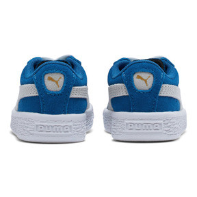 Thumbnail 4 of Puma Suede Toddler Shoes, Snorkel Blue-Puma White, medium