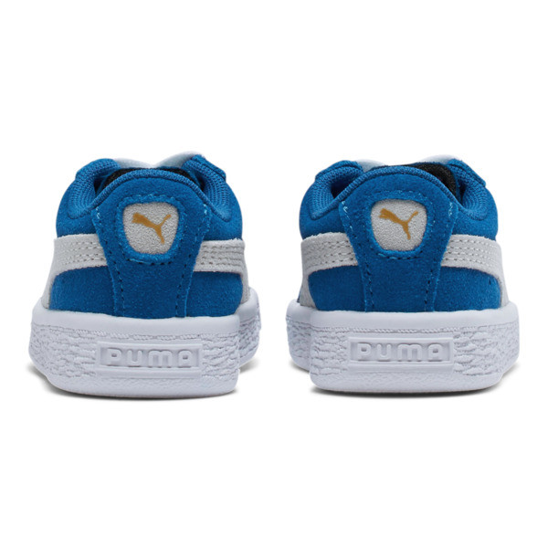 Puma Suede Toddler Shoes, Snorkel Blue-Puma White, large