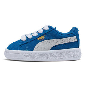 Thumbnail 1 of Puma Suede Toddler Shoes, Snorkel Blue-Puma White, medium