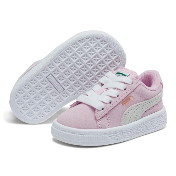 Puma Suede Toddler Shoes, Pink Lady-Puma White, large