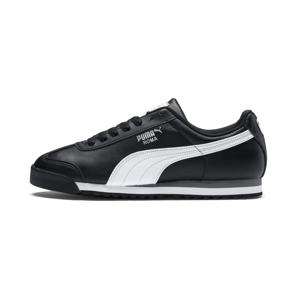 Roma Basic Youth Trainers, black-white-puma silver, large