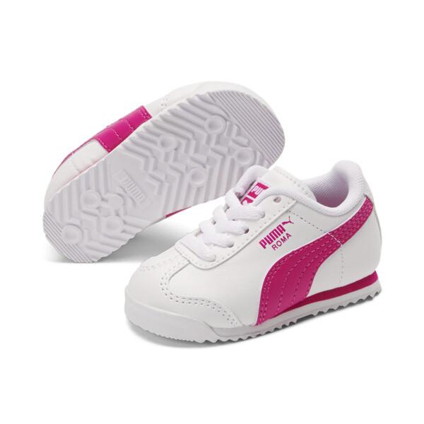 Roma Basic Toddler Shoes, white-fuchsia purple, large
