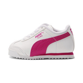 Thumbnail 1 of Roma Basic Toddler Shoes, white-fuchsia purple, medium