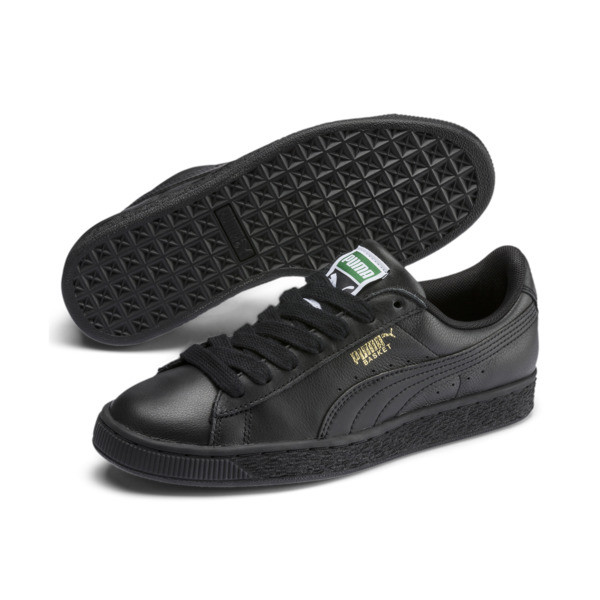 Basket Classic LFS Men's Shoes, black-team gold, large