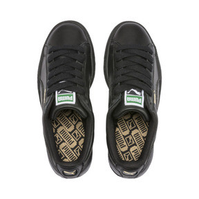 Thumbnail 6 of Heritage Basket Classic Sneakers, black-team gold, medium