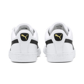 Thumbnail 3 of Heritage Basket Classic Sneakers, white-black, medium