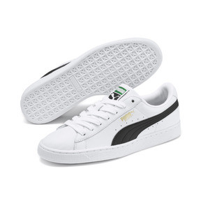 Thumbnail 2 of Heritage Basket Classic Sneaker, white-black, medium