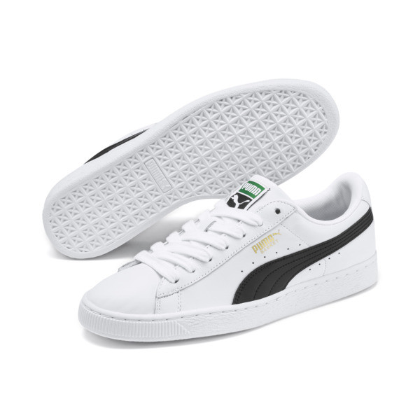 Basket Classic LFS Men's Shoes, white-black, large