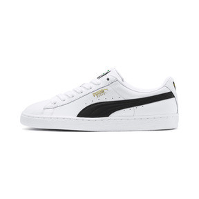 Thumbnail 1 of Heritage Basket Classic Sneaker, white-black, medium