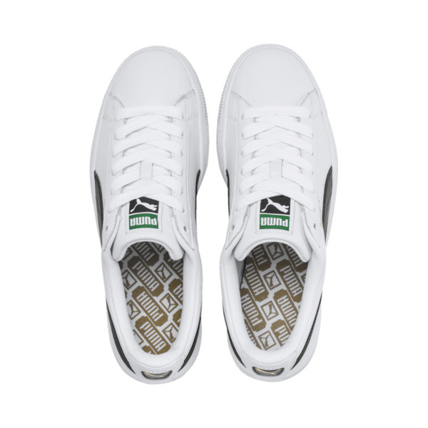 Heritage Basket Classic Sneakers, white-black, large