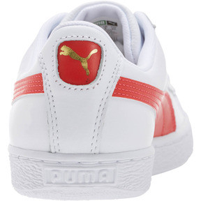 Thumbnail 4 of Basket Heritage Basket Classic, Puma White-Flame Scarlet, medium