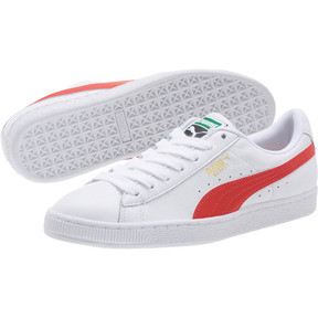 Thumbnail 2 of Basket Heritage Basket Classic, Puma White-Flame Scarlet, medium