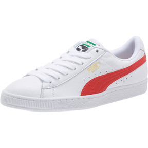 Thumbnail 1 of Basket Heritage Basket Classic, Puma White-Flame Scarlet, medium