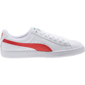 Thumbnail 3 of Basket Heritage Basket Classic, Puma White-Flame Scarlet, medium
