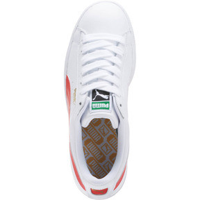 Thumbnail 5 of Basket Heritage Basket Classic, Puma White-Flame Scarlet, medium