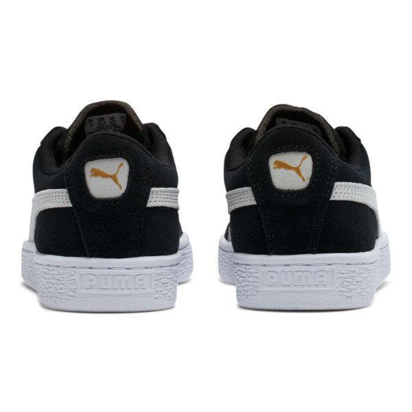 Suede Sneakers JR, black-white, large