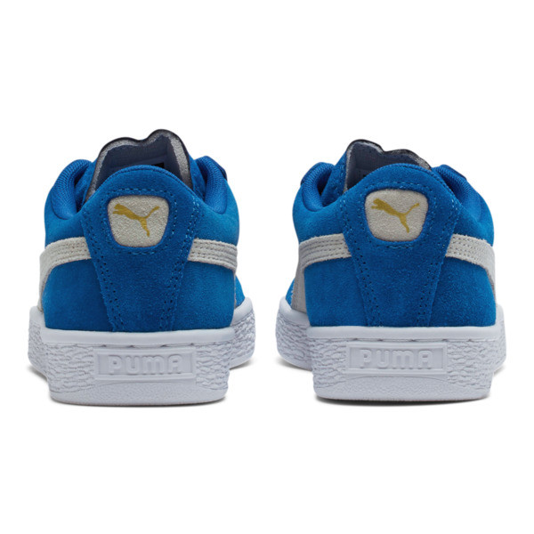 Suede Sneakers JR, snorkel blue-white, large