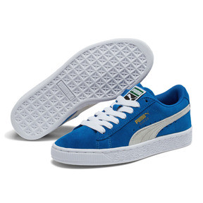 Thumbnail 2 of Suede Jr, snorkel blue-white, medium
