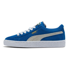 Thumbnail 1 of Suede Jr, snorkel blue-white, medium