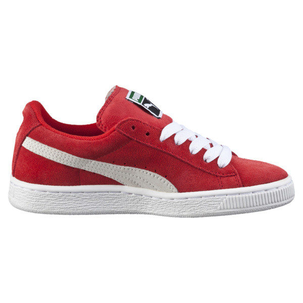 Kid's Suede Trainers, high risk red-white, large