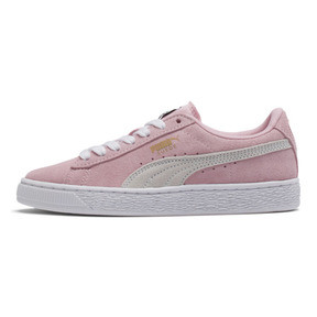 Thumbnail 1 of Suede Sneakers JR, pink lady-white-team gold, medium