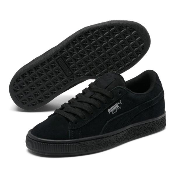 Suede Sneakers JR, black-puma silver, large