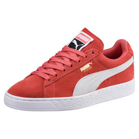 Thumbnail 1 of Suede Classic Women's Sneakers, Spiced Coral-Puma White, medium