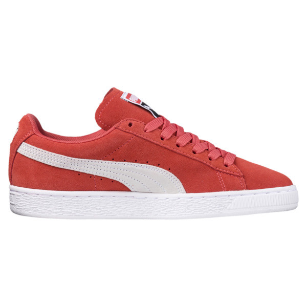 Suede Classic Women's Sneakers, Spiced Coral-Puma White, large