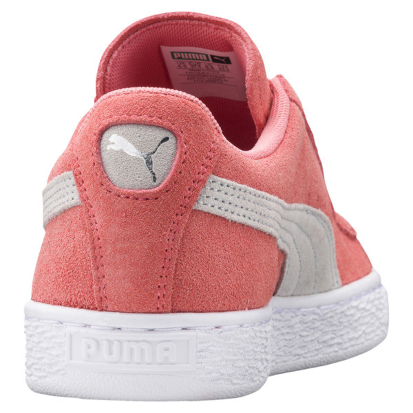 Suede Classic Women's Sneakers, Shell Pink-Glacier Gray, large