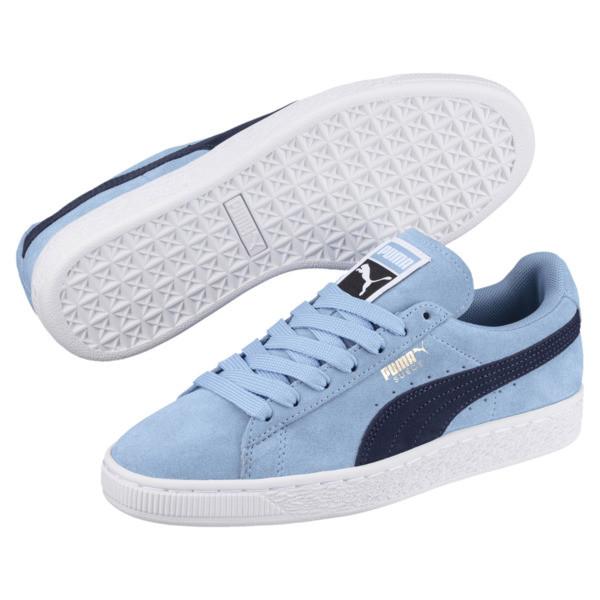Suede Classic Women's Sneakers, CERULEAN-Peacoat, large