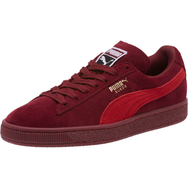 Suede Classic Women's Sneakers, Pomegranate-Ribbon Red, large