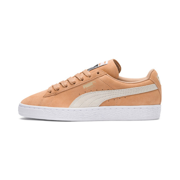 Suede Classic Women's Sneakers, Puma White-Whisper White, large