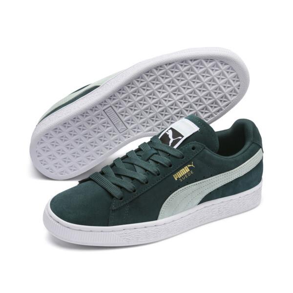 Suede Classic Women's Sneakers, Ponderosa Pine-Fair Aqua, large