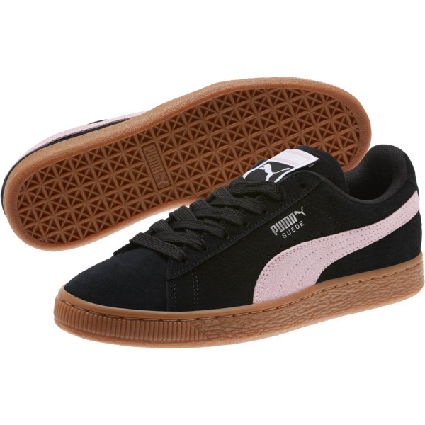 Suede Classic Women's Sneakers, Puma Black-Pale Pink, large