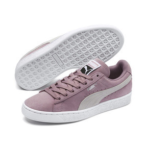 Thumbnail 2 of Suede Classic Women's Sneakers, Elderberry-Puma White, medium