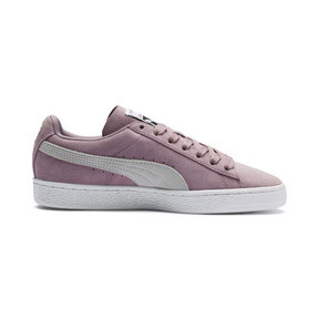 Thumbnail 5 of Suede Classic Women's Sneakers, Elderberry-Puma White, medium
