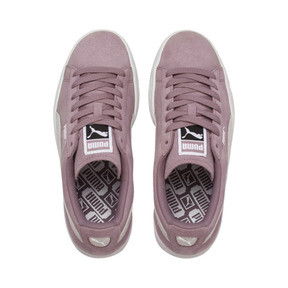 Thumbnail 6 of Suede Classic Women's Sneakers, Elderberry-Puma White, medium
