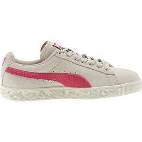 Thumbnail 4 of Suede Classic Women's Sneakers, Silver Gray-Fuchsia Purple, medium
