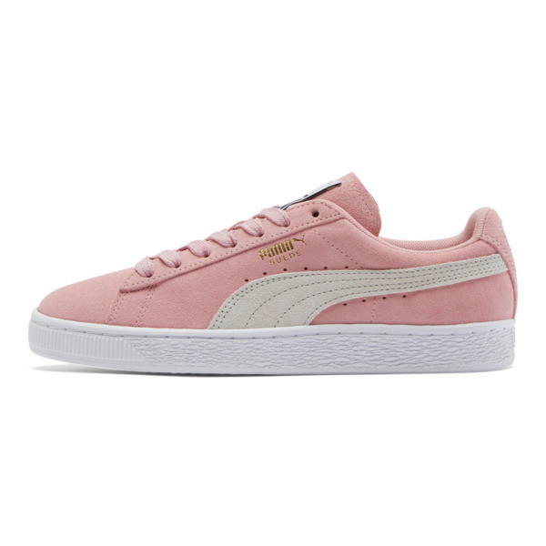 Suede Classic Women's Sneakers, Bridal Rose-Gray Violet, large