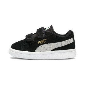 Thumbnail 1 of Suede Two-strap Babies' Trainers, black-white, medium