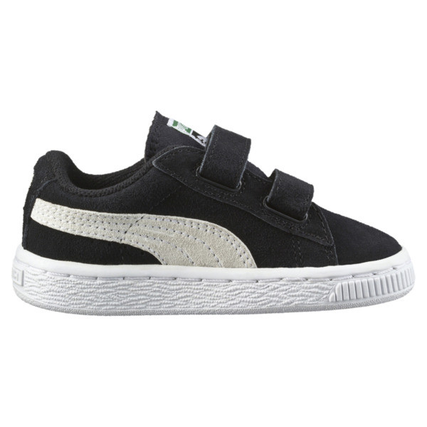 Suede Two-strap Babies' Trainers, black-white, large