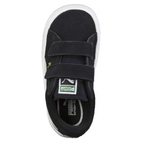 Thumbnail 5 of Suede Two-strap Babies' Trainers, black-white, medium
